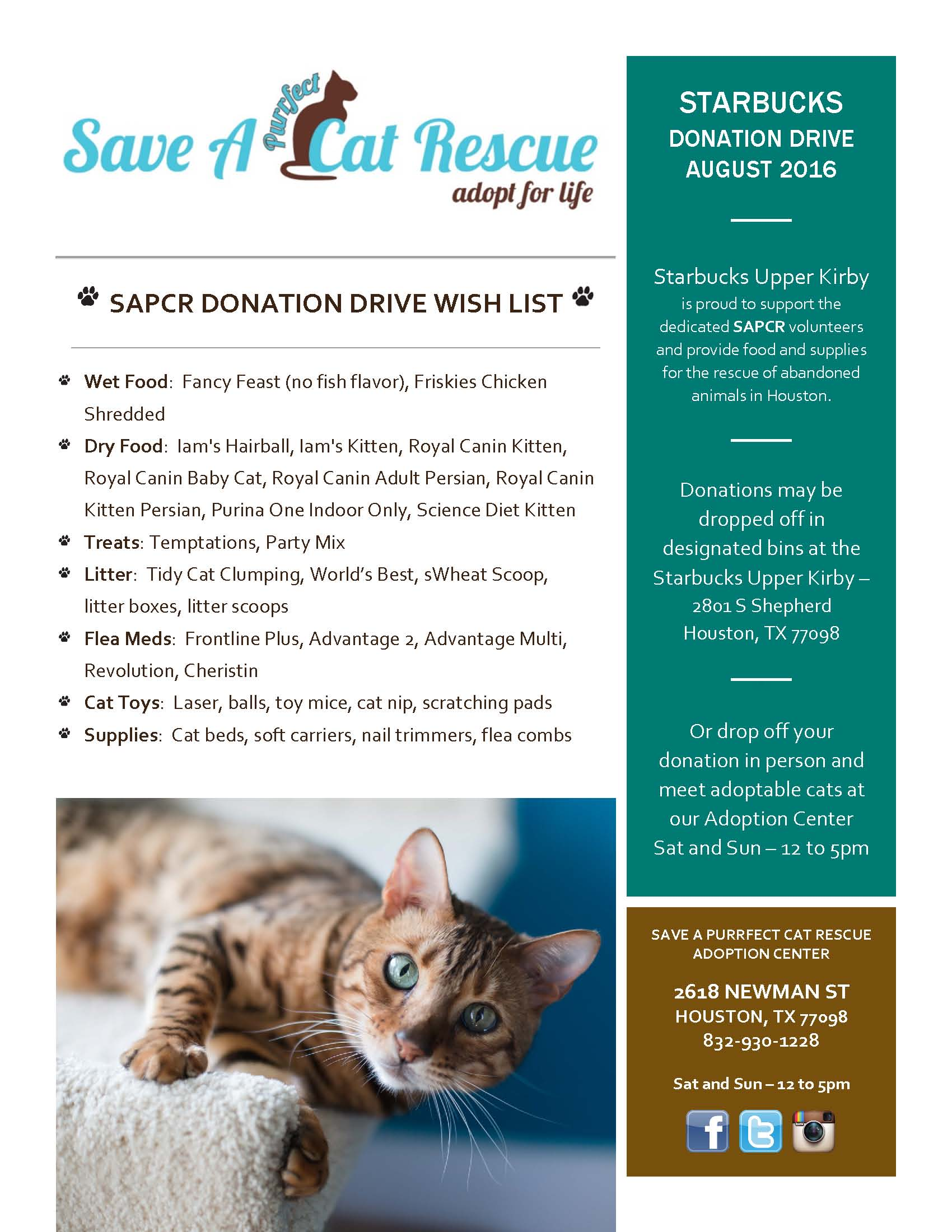 Donation Drive August 2016